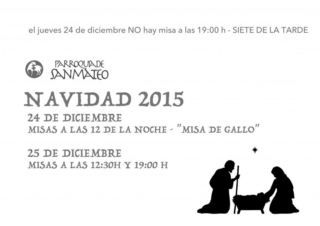 horarios navidad 2015